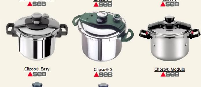 Une large gamme de cocotte-minute Seb Clipso pour tous les besoins